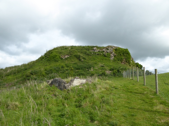 The remains of the keep of Wark Castle, one of the most important castles on the border between England and Scotland, Carham parish, Northumberland